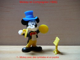"Kinder 1990 : Mickey Avec Cymbales Et Pupitre Jaune ""Mickey & Compagnie"" - Dessins Animés"