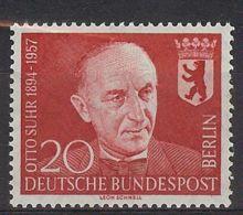 Berlín 1958. Otto Suhr M=181 Y=161  (**) - [5] Berlin