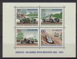 Berlín 1971. Rally Avus - Rennen M=315a-d Y=370-73  (**) - Blocks & Kleinbögen