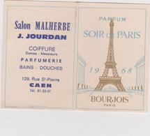 Vieux  Papier :  Parfum : Coiffure  à  Caen , Calendrier   1968 - Tour  Eiffel  De  Chez  Bourgeois , Paris - Parfums & Beauté