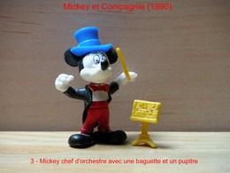 """Kinder 1990 : Mickey Avec Baguette Et Pupitre Jaune """"Mickey & Compagnie"""" - Dessins Animés"""