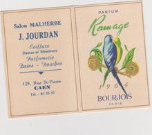 Vieux  Papier :  Parfum : Coiffure  à  Caen , Calendrier   1964 - Tour  Eiffel  De  Chez  Bourgeois , Paris - Perfume & Beauty