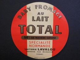 61043 - Petite étiquette De Fromage - Baby Fromage Au Lait Total - Fromagerie Lavalou à Sérans Par Ecouché - Orne 61 - Kaas