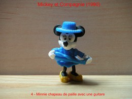 "Kinder 1990 : Minnie Avec Violon Bleu ""Mickey & Compagnie"" - Dessins Animés"