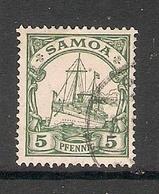 006662 German Samoa 1900 5pf FU - Colony: Samoa