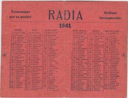 "Vieux  Papier : Calendrier  1941 ""  RADIA ""   Cirage  ,  Caen , Calvados - Calendriers"