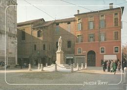 Modena (Emilia R.) Piazza Torre E Monumento Ad A. Tassoni Dopo Il Restauro Del 1988 - Modena