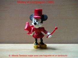 """Kinder 1990 : Minnie Avec Baguette Et Tambourin Rouge Habits Rouge """"Mickey & Compagnie"""" - Dessins Animés"""