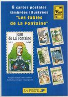 FRANCE -  Jean De La Fontaine  Avec 6 Timbres Reproduits  (110450) - Timbres (représentations)