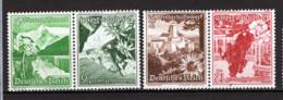 Germania Reich 1938 Unif.618+619,616+621 Tete Beche **/MNH VF - Germania