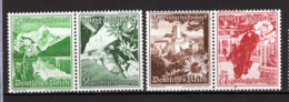 Germania Reich 1938 Unif.618+619,616+621 Tete Beche **/MNH VF - Unused Stamps