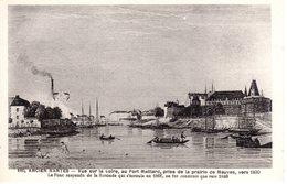 160 Ancien Nantes - Vue Sur La Loire, Au Port Maillard ... Vers 1830 ... - Nantes