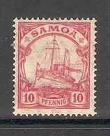 006666 German Samoa 1919 10pf MH - Colony: Samoa