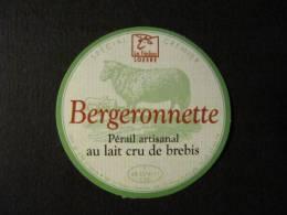 48701A - étiquette De Fromage De Brebis - Bergeronnette - Hures La Parade - Lozère - Kaas