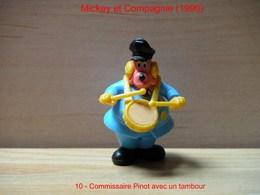 """Kinder 1990 : Commissaire Finot Avec Tambour """"Mickey & Compagnie"""" - Dessins Animés"""