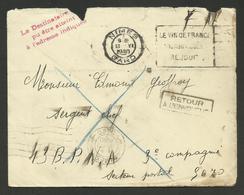 """Juin 1940 / NIMES Pour Le 43ème B.P.N.A. / Retour - Cachet """" Le Destinataire N'à Pu Etre Atteint à L'adresse Indiquée """" - WW II"""
