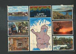 CPM - FINLANDE - LAPPI LAPLAND - MULTI-VUES ET CARTE - - Finlande