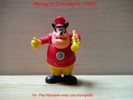 """Kinder 1990 : Pat Hibulaire Avec Trompette Jaune """"Mickey & Compagnie"""" - Dessins Animés"""