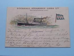 "S.S. "" BULUWAYO "" BUCKNALL STEAMSHIP Lines Ltd. (British Colonial Line) Anno 1910 ( Voir Photo Details ) ! - Paquebots"