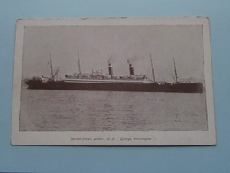 "United States Lines S.S. "" GEORGE WASHINGTON "" () Anno 19?? ( Voir Photo Details ) ! - Piroscafi"