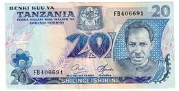 Tanzania 20 Shilling 1978 XF+/AUNC - Tanzanie