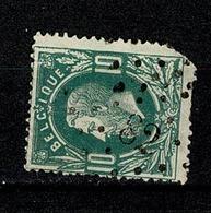 Belg.  30  Pt 82  Chimay  COBA + 3 - 1869-1883 Leopold II