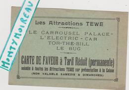 """Vieux  Papier :  Calvados ? Bretteville Sur  Odon ?  Caen  Festyland  Actuel ? """" Les  Attractions  TEWE """" Carrousel Pala - Cartes De Visite"""