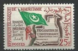"Mauritanie YT 154 "" Proclamation De L'indépendance  "" 1960 Neuf** - Mauritanie (1960-...)"