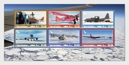 ROSS DEPENDENCY 2018 Aircraft Miniature Sheet** - Unused Stamps