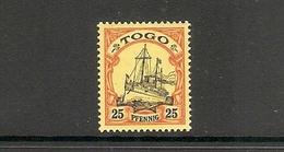006679 German Togo 1900 25pf MH - Colonie: Togo