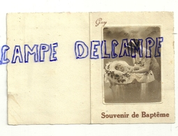 Carte Double De Souvenir De Baptême. Guy Monnom Montigny 1934 - Geboorte