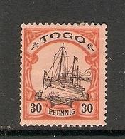 006680 German Togo 1900 30pf MH - Colonie: Togo