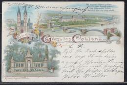 Litho Gruss Aus Coblenz Color Gelaufen 7.7.97 - Koblenz