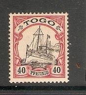 006681 German Togo 1900 40pf MH - Colonie: Togo