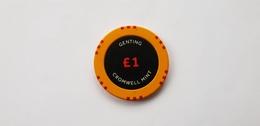 Genting Casino London Cromwell Mint UK 1 GBP Casino Chip Jeton - Casino