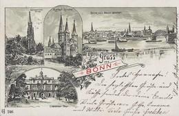Litho Gruss Aus Bonn Gelaufen 9.10.05 - Bonn