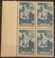 FRANCE Bloc De 4 Du N° 387 N**  Cote 28€ - Unused Stamps