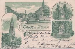 Litho Gruss Aus Bonn Gelaufen 15.6.01 - Bonn