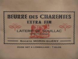 T721 / étiquette D'emballage Beurre De La Laiterie De SOUILLAC - VILLARS EN PONS - Charente-Maritime - Etiquettes