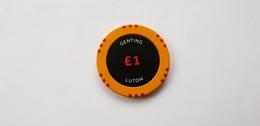 Genting Casino Luton UK 1 GBP Casino Chip Jeton - Casino