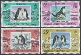 BRITISH ANTARCTIC TERRITORY  Michel  74/77 Very Fine Used - Territoire Antarctique Britannique  (BAT)