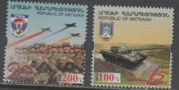 REPUBLIC OF ARTSAKH, KARABAKH, 2017, MNH, ARMY, MILITARY, SOLDIERS, FIGHTER PLANES, TANKS, 2v - Airplanes