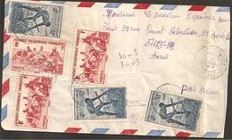 Env. Cote D'Ivoire  1947 Gros Timbrage  PARFAIT ETAT R/V - Côte-d'Ivoire (1892-1944)