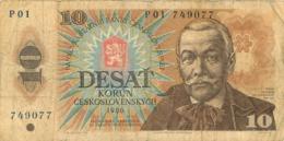 BILLET  CESKOSLOVENSKYCH  VALEUR 10 DE 1986 - Tchécoslovaquie