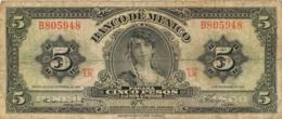 BILLET  MEXIQUE MEXICO CINCO PESOS - Mexico