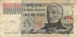 BILLET  ARGENTINE 100000 PESOS CIEN MIL PESOS - Argentine