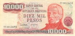 LOT DE 5 BILLETS ARGENTINE 10000 PESOS  5000 PESOS  10 PESOS UN PESO UN AUSTRAL - Argentina