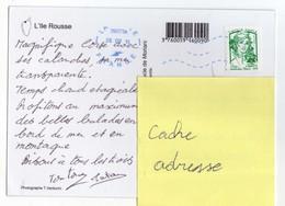 France Marianne De Ciappa En Lettre Verte. Oblitérée En Corse En 2015. Vue De L'Ile Rousse - 2013-... Marianne Of Ciappa-Kawena