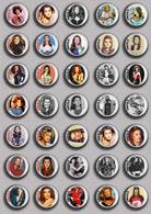 SHEILA Music Fan ART BADGE BUTTON PIN SET 4 (1inch/25mm Diameter) 35 DIFF - Musique
