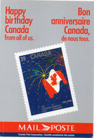 CANADA - Happy Birthday - Bon Anniversaire - Timbre Reproduit - Mail Poste (110454) - Timbres (représentations)